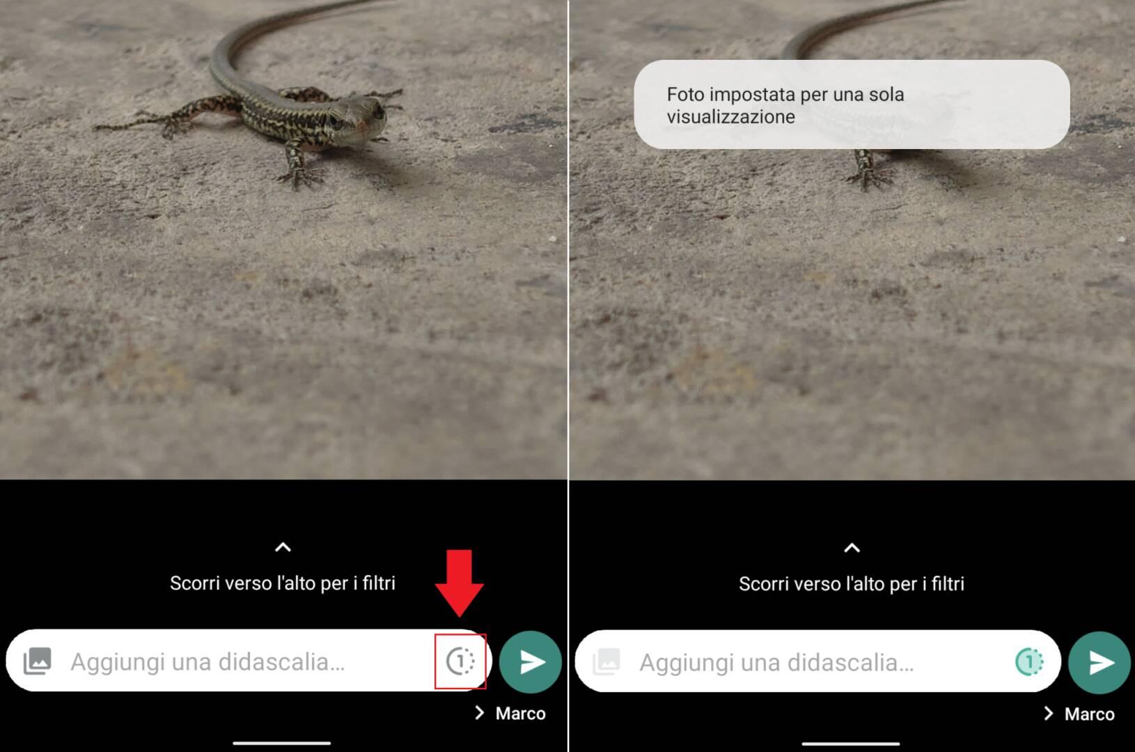 WhatsApp foto visualizza una volta