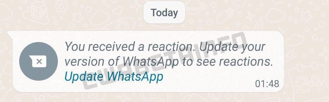 WhatsApp reazioni ai messaggi