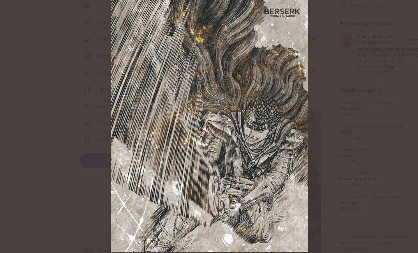 Berserk Volume 41: la data di uscita e altro su Kentaro Miura
