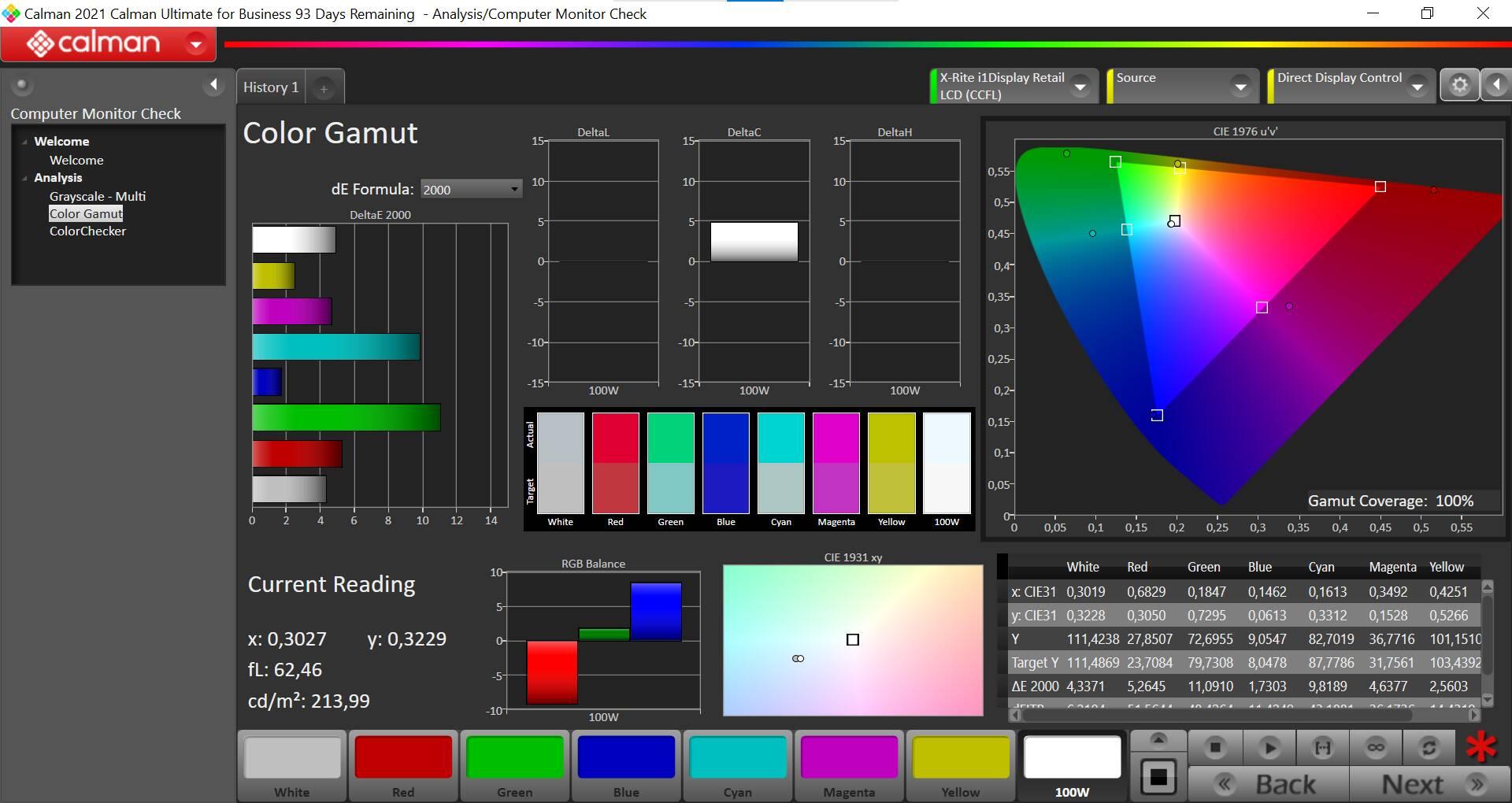 Corsair Xeneon 32QHD165 - Test colorimetro - calibrato copertura sRGB