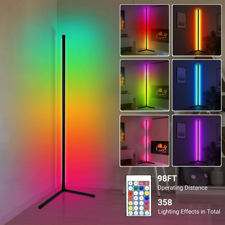 Illuminazione smart da parete per postazione gaming