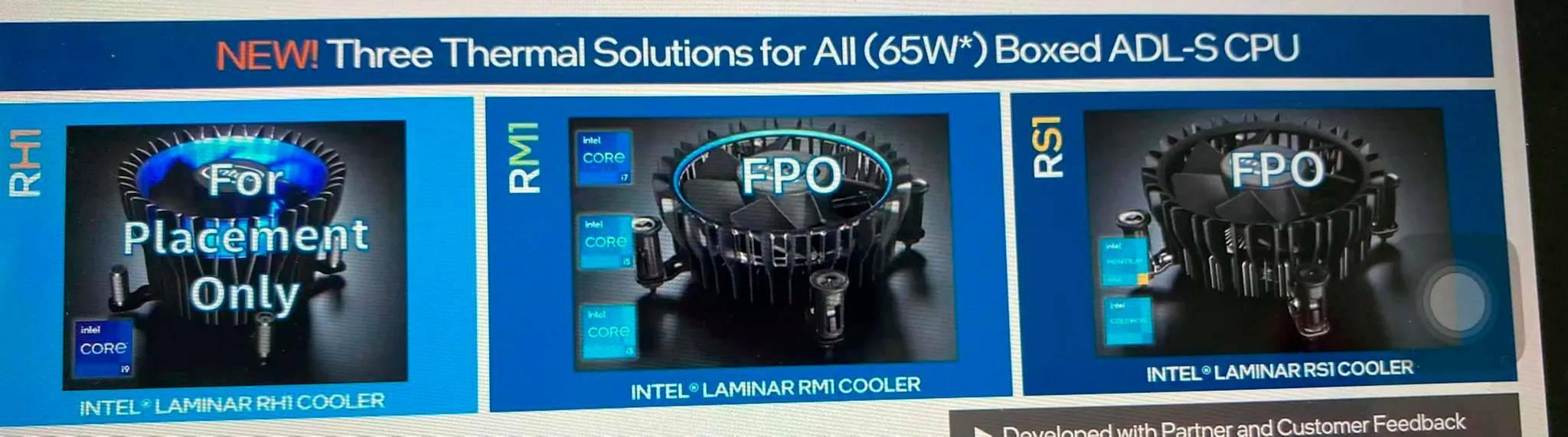 Intel Alder Lake dissipatore stock