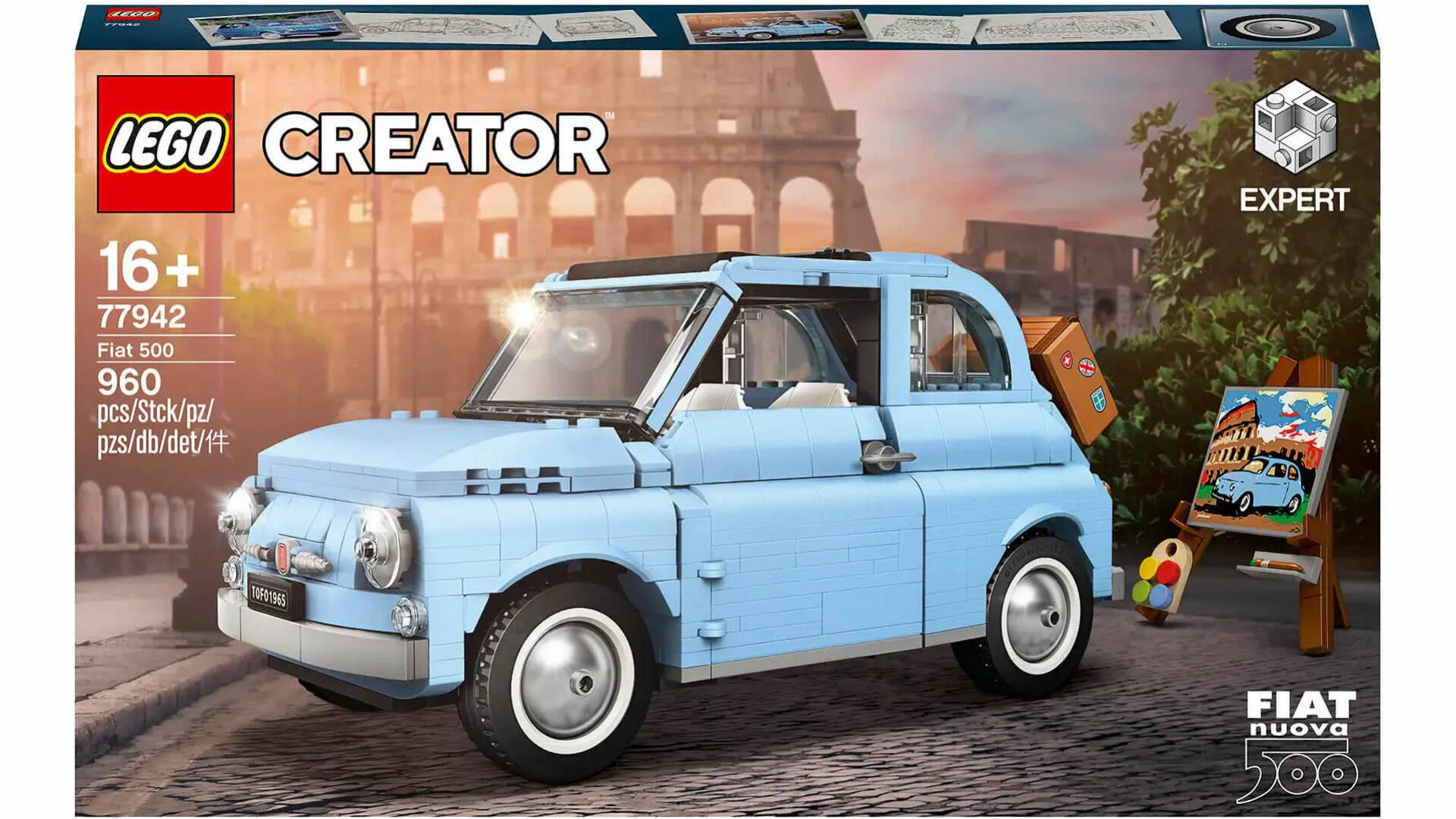 LEGO CREATOR EXPERT FIAT 500 AZZURRA SU ZAVVI