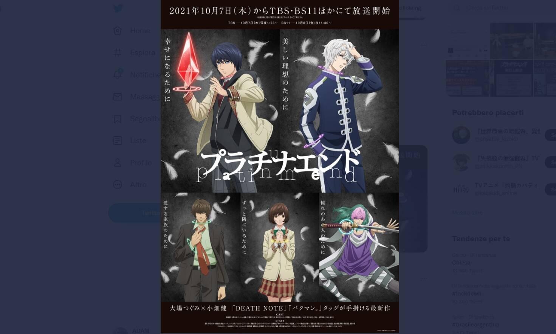 Platinum End: data di inizio, trailer, key visual e altro dell'adattamento anime