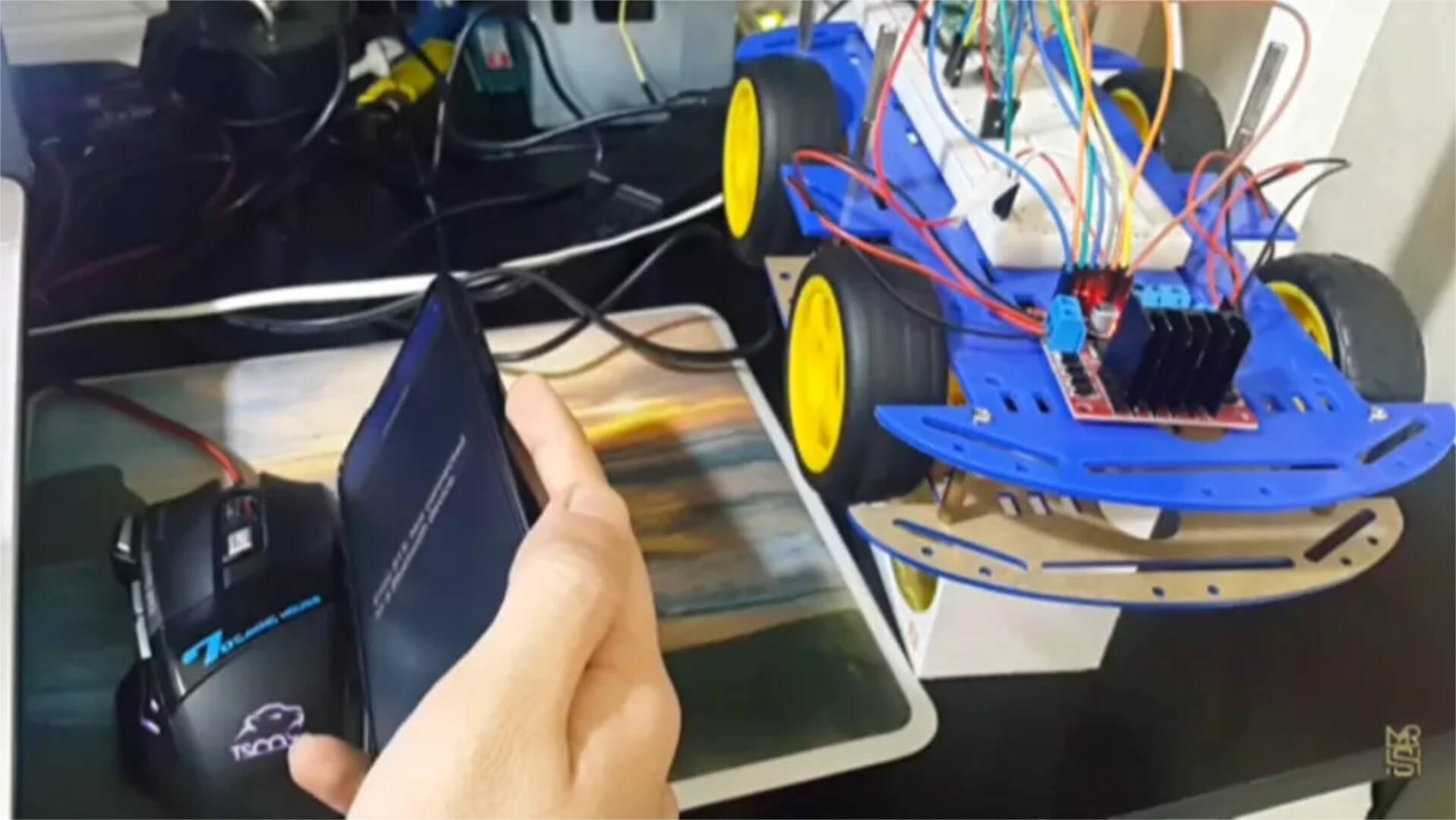 Raspberry Pi Pico Robot Accelerometro