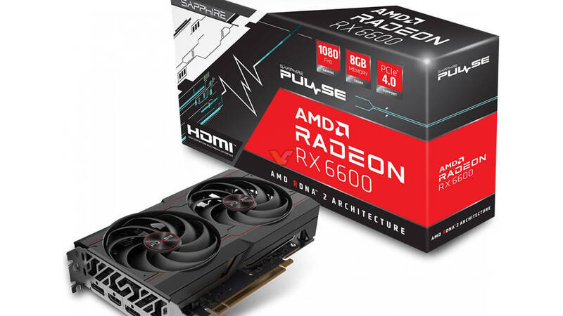 Radeon RX 6600, here are the first custom cards