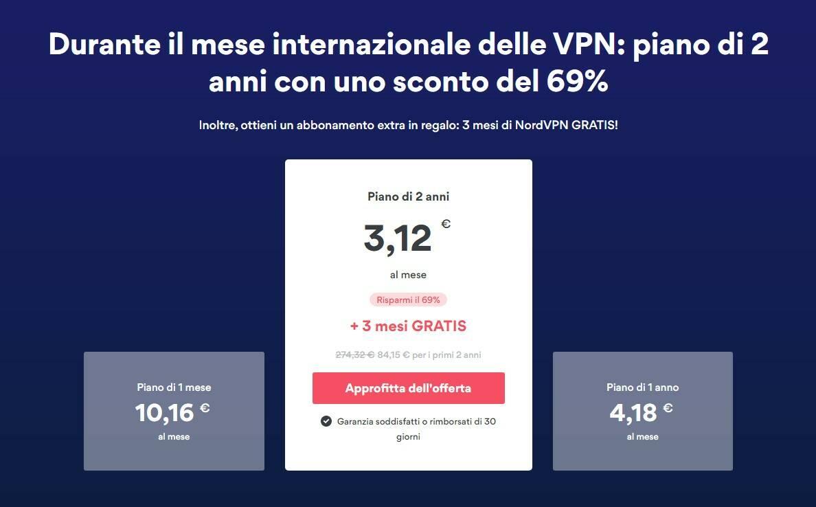 Tariffe NordVPN - Mese Internazionale delle VPN 2021