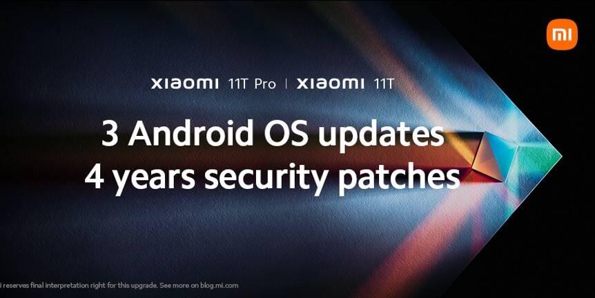 Xiaomi 11T/11T Pro 3 anni aggiornamenti Android