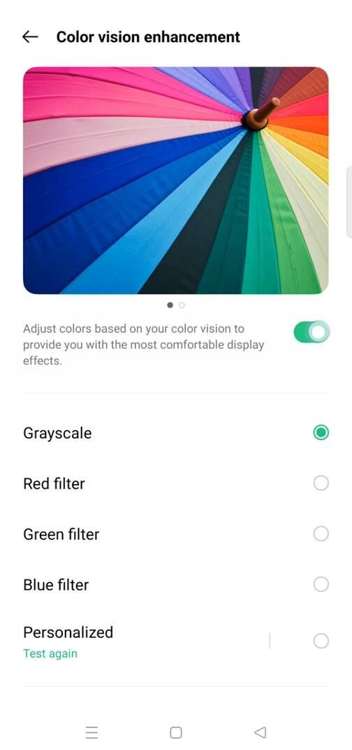 ColorOS 12 Color Vision