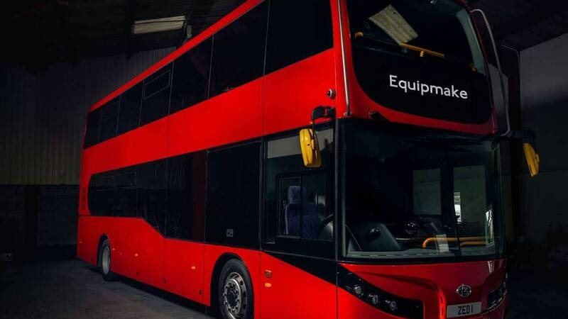 Equipmake Jewel E, the electric double decker arrives in London