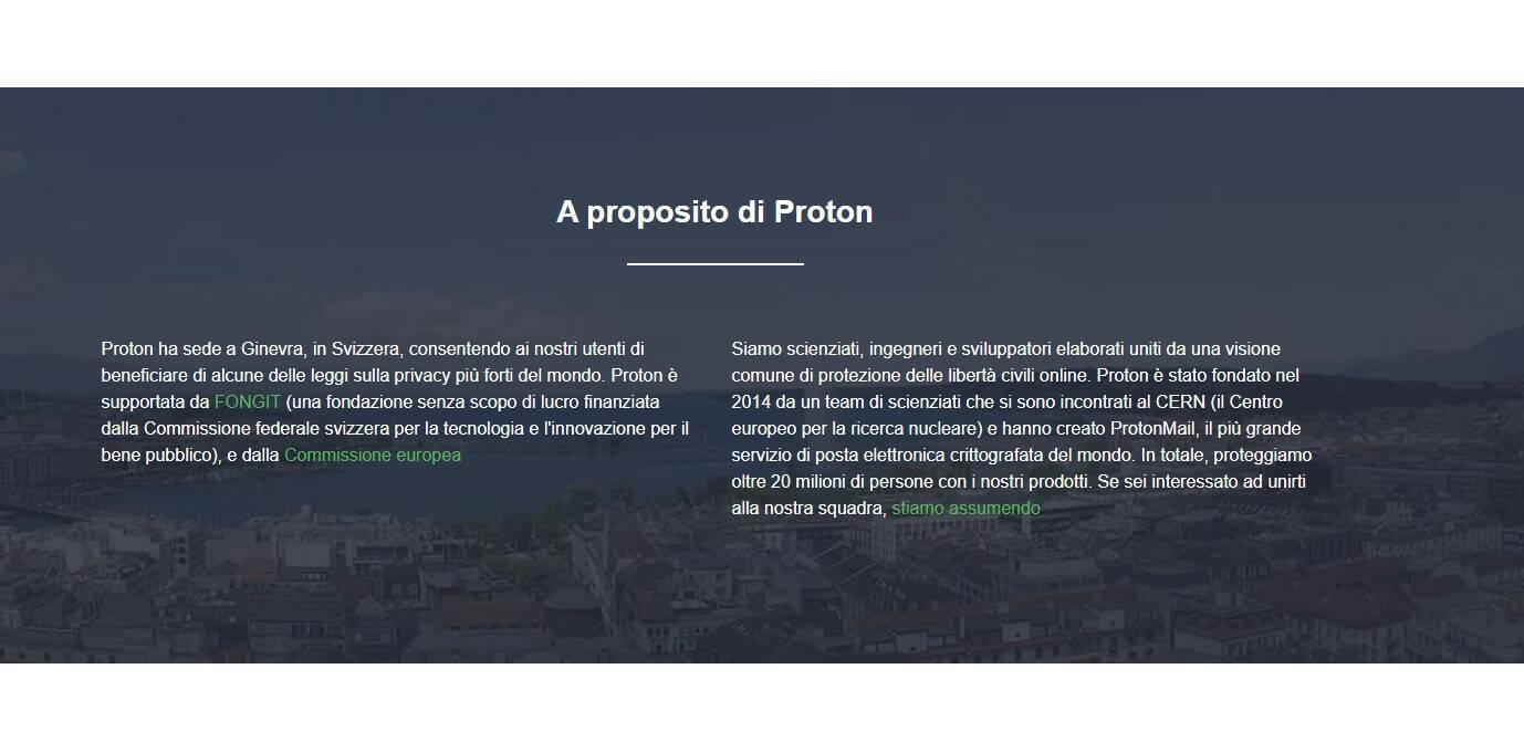 Proton VPN - Privacy