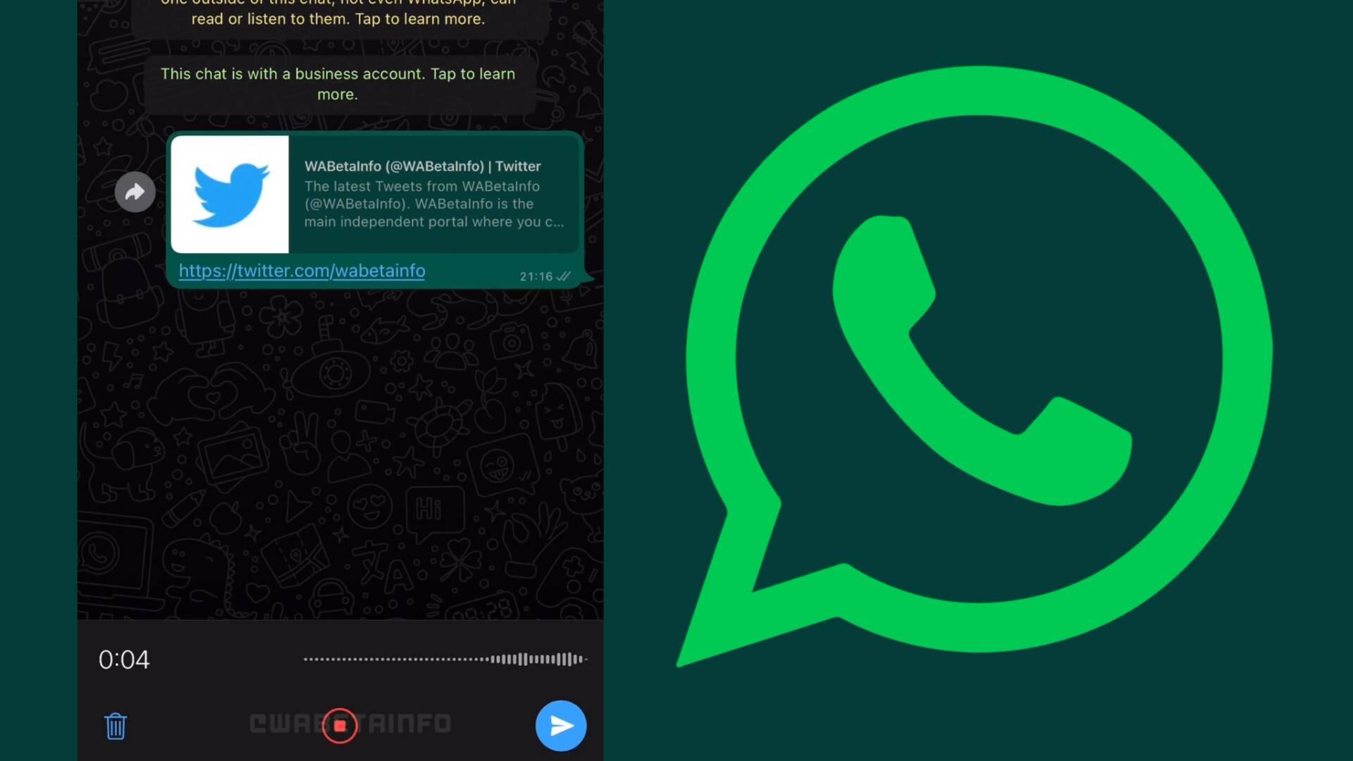 WhatsApp nuovo registratore audio